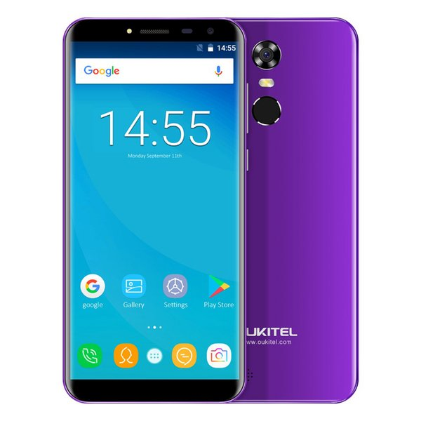 2GB 16GB OUKITEL C8 3G WCDMA Rear Fingerprint Quad Core MTK6580 Android 7.0 5.5 inch IPS 1280*640 HD 18:9 13MP Camera GPS 3000mAh Smartphone