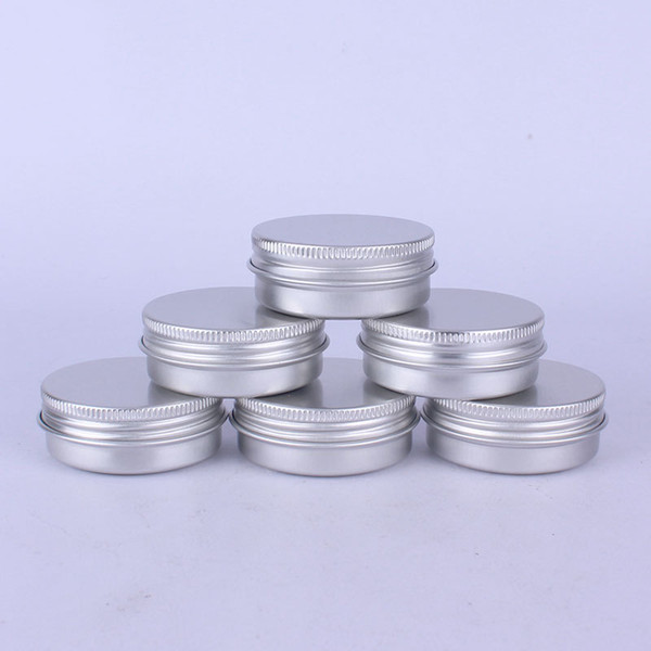 400PCS 30g Aluminum Jar 30ml Metal Cream Storage Box 1oz Silver Metal Cosmetic Empty Sample Makeup Container ZA5535