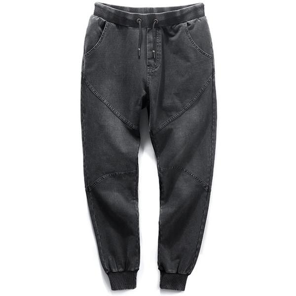 Большой размер 8XL мужские мешковатые джинсы весна осень высокая стрейч мужской джинсовые брюки хлопок мода эластичный пояс мужчины Жан брюки YW33