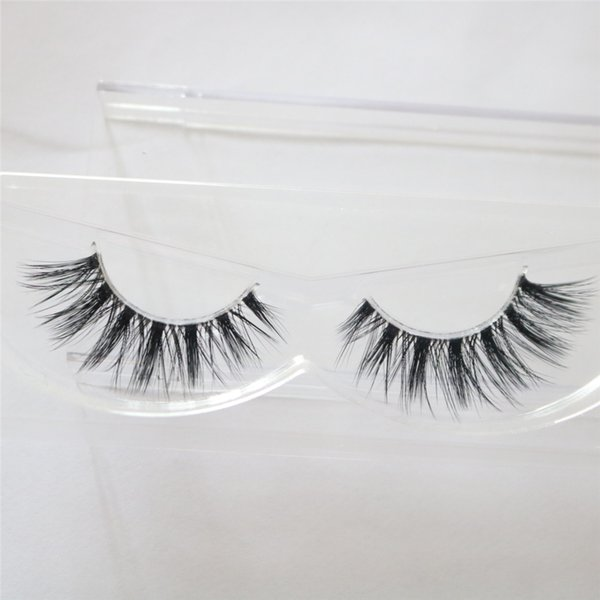 1pc Mink Eyelashes 3D Mink Lashes Thick HandMade Full Strip Lashes Cruelty Free Korean Mink Lashes invisible False Eyelashes F18