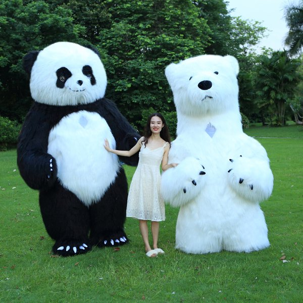 3M tall Inflatable Panda Costume Inflatable Polar Plush Bear Cosplay Costume Party Dress Halloween Costumes For Adult 3 styles