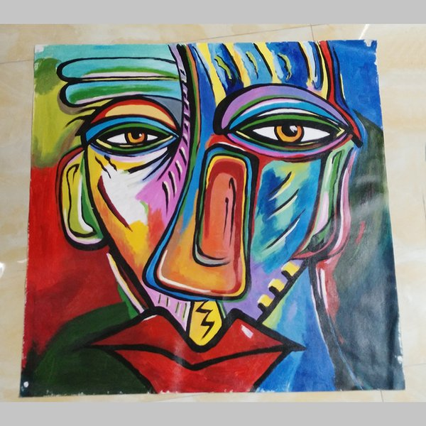 Mintura Oil Painting with 100% hand painted on canvas for livingroom - Pop Art Modern Canvas FACE 4 size