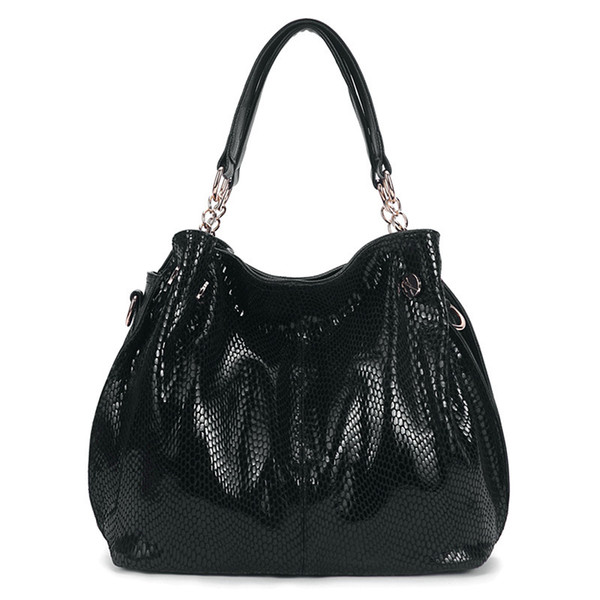 Frauen Schlange striae Umhängetaschen hochwertige Damenmode Echtes Leder Handtasche Pendler OL Tasche