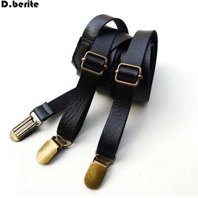 Moda para hombre negro sólido tirantes unisex ajustables tirantes delgados clip tirantes adultos correa para el banquete de boda BDXJ1502