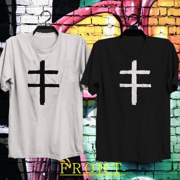 Marilyn Manson Çift Çapraz Logo erkek T-Shirt Tee XS-3XL
