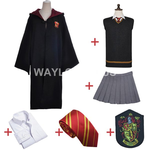 costume Gryffindor Uniform Hermione Granger Costume Adult Version Halloween Party Gift for Harri Potter Cosplay
