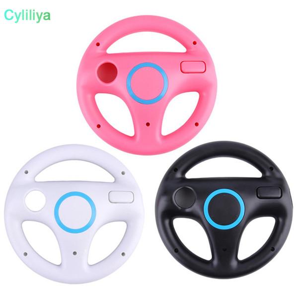 3 colores para Wii Plastic Diseño innovador y ergonómico Juego Racing Volante para Wii Mario Kart Mando a distancia