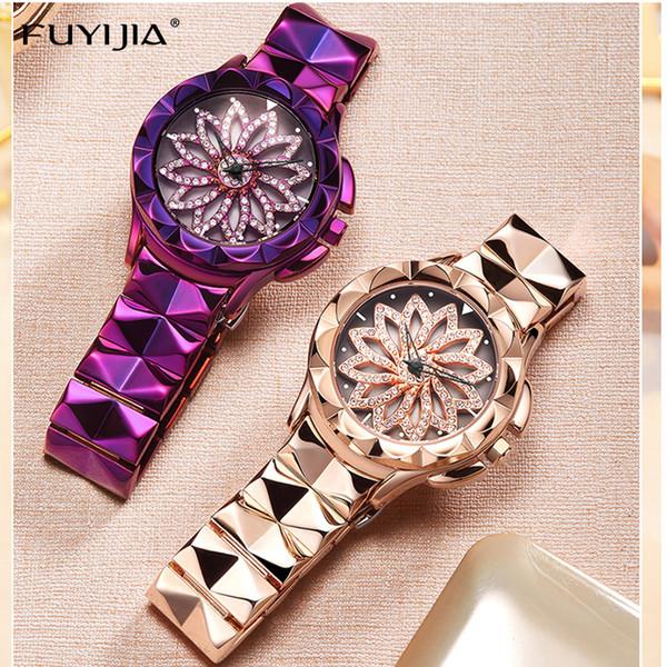 Lady watches women's quartz wristwatches ladies watch female clock top brand luxury dresses girl bracelet table relogio feminino Y18102310