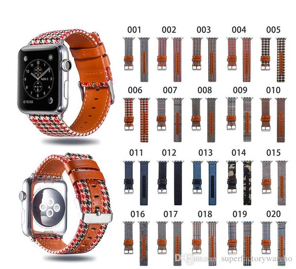 New For Apple Watch Strap cloth fine woven nylon watch band iwatch1/2/3/4 generation replacement wrist strap 38mm 42mm