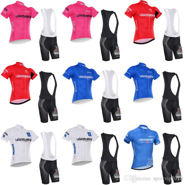 TOUR OF ITALY team Men Summer Style Cycling Short Sleeves jersey (bib) shorts set Breathable bicycle clothing ropa ciclismo 40310