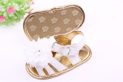 Big Summer Girls 0-18M Brand Toddler Infants Baby Flower 2018 Shoes Crib Sole Shoes Newborn New Prewalker Baby Sandals Flower