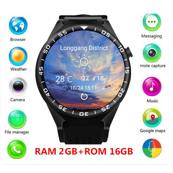 ZGPAX S99C 1.39'' Android 5.1 OS MT6580 Quad-core GSM 3G Smart Watch 16G ROM WiFi GPS Camera Bluetooth 4.0.