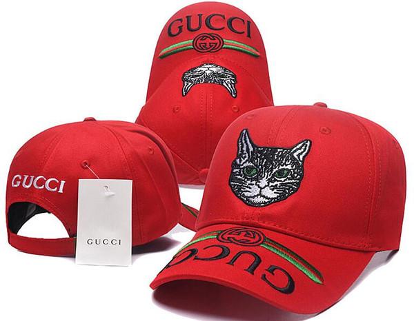 2018 Designer Mens Berretti da baseball Nuovo di zecca Tiger Head Hats Oro osso ricamato Uomini Donne casquette Sun Hat gorras Sport Cap Drop Shipping