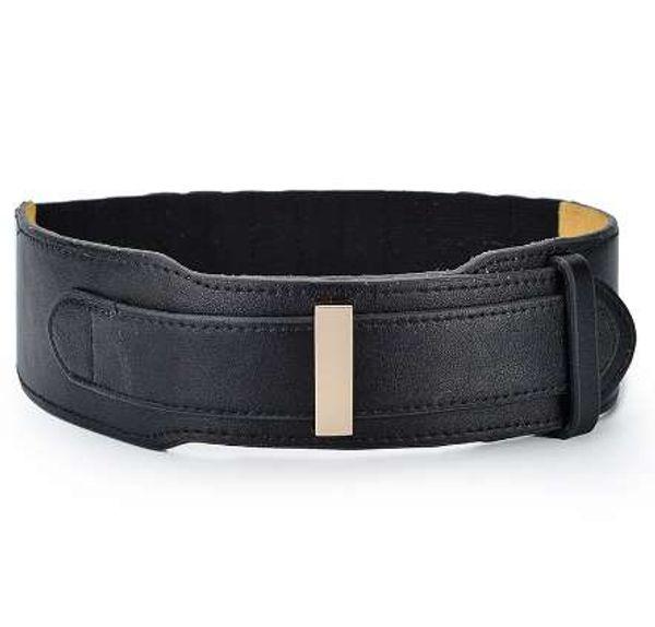 GuiZuE Genuino Cinturón Mujer 2018 Nuevo Llega Cuero Real 6 cm Ancho Cincha Elástica Cintura Elástica Correa Correas de moda para las mujeres de tela