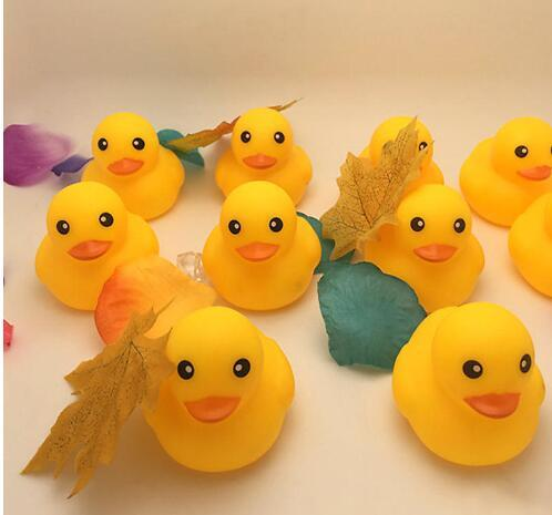 best selling Baby Bath Water Toy toys Sounds Mini Yellow Rubber Ducks Kids Bathe Children Swimming Beach Gifts DHL FEDEX FREE SHIPPING