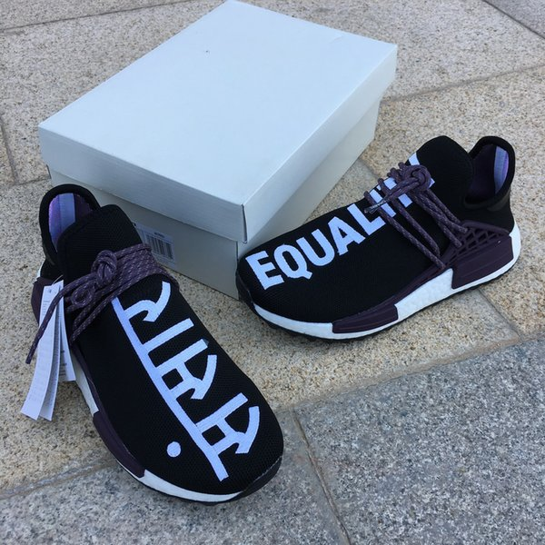 detailed look e358d f4668 Originals Hu NMD Holi New Black Purple Cheap Wholesale NMD TR HUMAN RACE  Pharrell Williams X Boost Sneakers Mens Women Shoes US 5 12 Shoes Sports ...