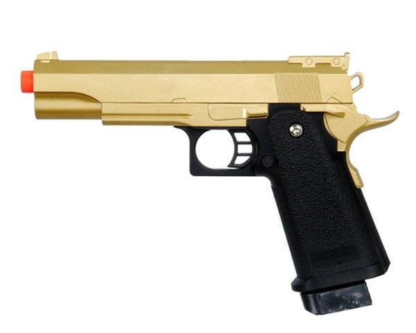 Pistola Airsoft GOLD METAL M 1911 Pistola a molla FULL SIZE A1 con 6mm BB BBs