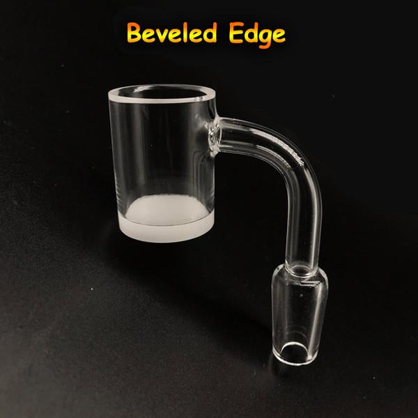 New Beveled Edge Opaque Bottom Gavel Quartz Banger 10mm 14mm 18mm 45 90 Flat Top Quartz Bangers Nails For Glass Bongs Dab Rigs