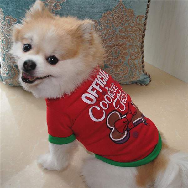 New Arrival Pet Clothes Pet Dog Christmas Dog Clothing Cotton T Shirt Puppy Costume Pets Acessorios Free Shipping