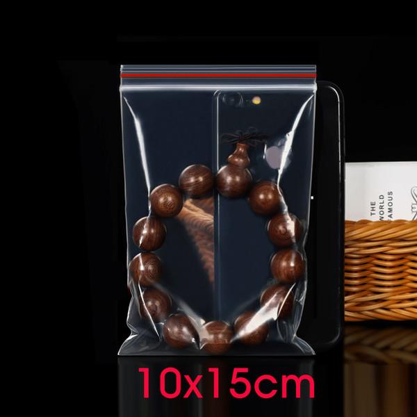 10x15cm Zip Lock Plastic Bags Jewelry Small Ziplock Bag Food Packaging Zipper Clear Dustproof Pouch Garment Packing Storage Bag