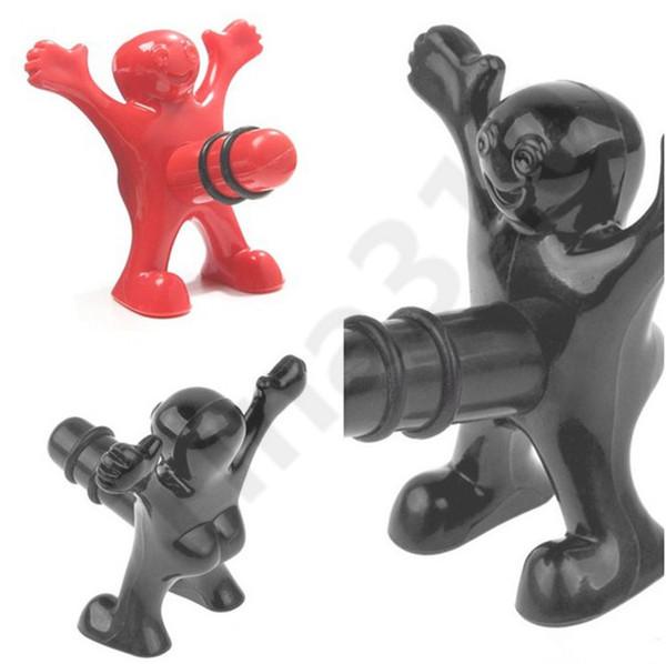 Neue kreative glücklich mann flasche plugswine wenig rote männer parodie wein stopfen lustige versiegelt lagerung küche bar werkzeuge 150 stücke t110 ...