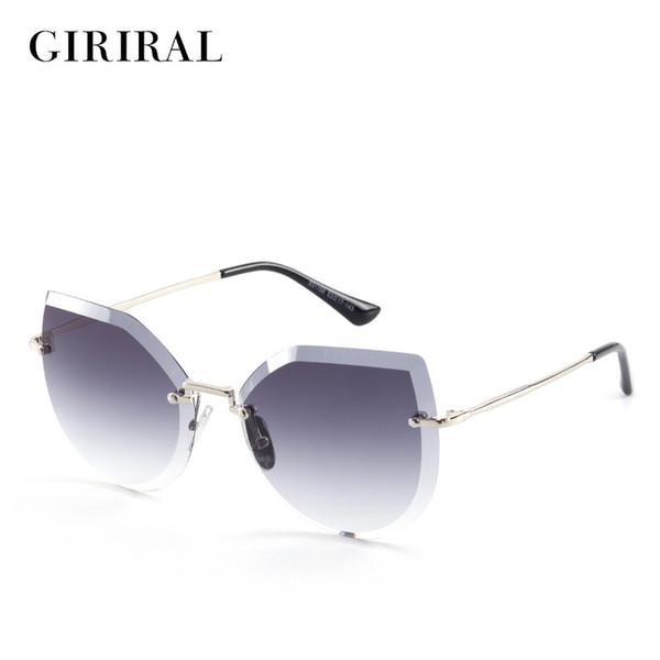 2018 Metal women sun glasses HD uv400 colored designer clear candy fashion vintage retro sunglasses #S31158