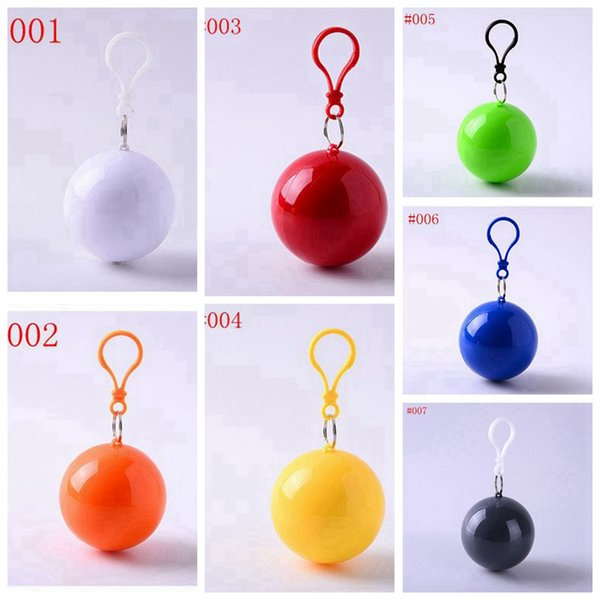 Disposable Emergency Raincoats 7 colors Rain Poncho Portable Hook Poncho Ball Rainwear For Outdoor Activities Camping Fishing Tourism Poncho