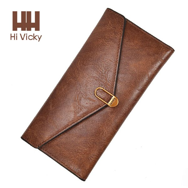 2018 Discount Luxury Women 100% Genuine Leather Wallet Female Famous Brand Designer Clutch Qualithly Purse Wallet Card holder