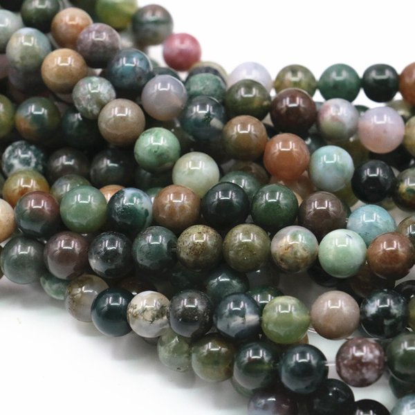 Multicolor Round Natural Indian Agates Onyx Stone Carnelian 6 8 10 12mm Loose Beads for Jewelry Making Craft Finding 15inch A379