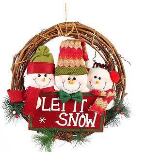 Christmas Felt Cloth Door Pendant Ornament Festival Decoration Handmade Sewing Art Felt DIY Package For Children Gift