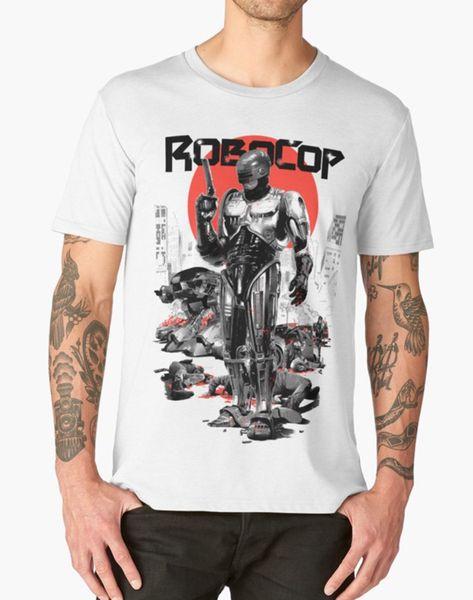 ROBOCOP T SHIRT RETRO VINTAGE CULT CLASSIC MOVIE FILM FANDOM BIRTHDAY PRESENT Reasonable Wholesale tee shirt print