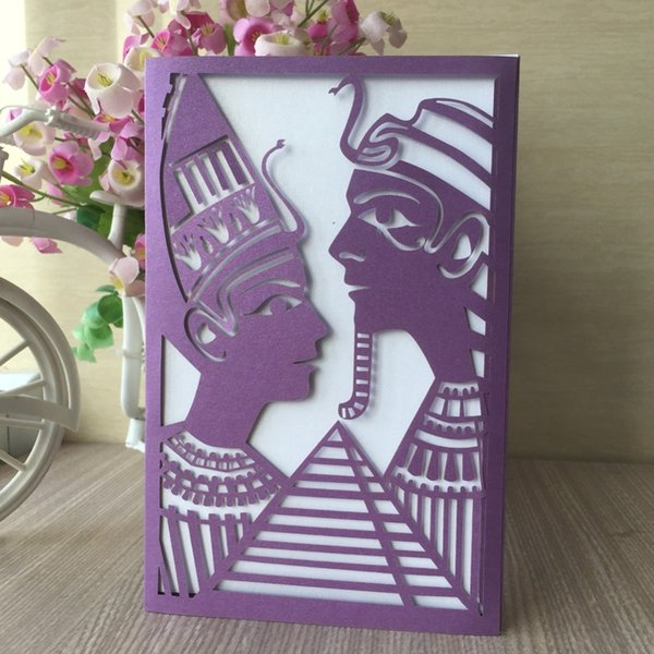 45pcs India Style Pearl Paper Wedding Card Initations 2018 Greeting Blessing EventParty Supplies