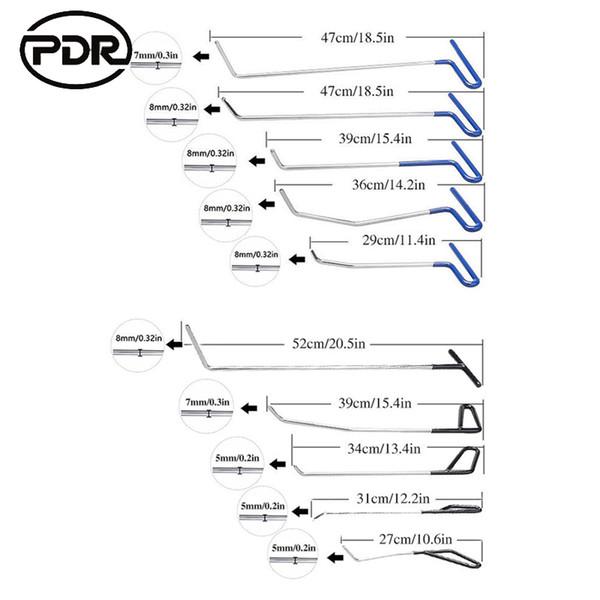 high Quality Dent Repair Car Body Repair Kit Paintless Dent Repair Tool Kit PDR Tools Push Rods Dent Removal Car