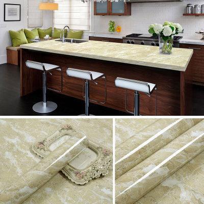 Adesivi adesivi impermeabili di rinnovamento di marmo Carta da parati da parati in PVC bastone da parete ambry tavolo mesa 60 * 500cm