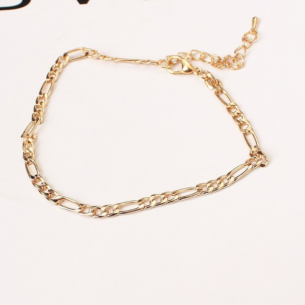 best selling European and American foreign trade jewelry fashion simple and versatile metal chain ladies anklet