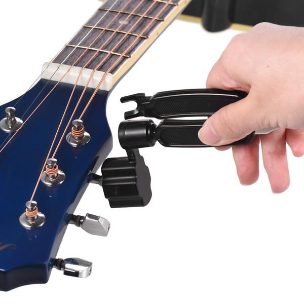 3-em-1 Multifuncional Corda Guitarra Peg Winder Bridge Pin Extrator Cortador de Cordas de Reparação de Guitarra Manutenção Luthier Ferramenta