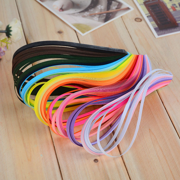 Cheap Craft Paper 260 Pcs DIY Hand Craft Child Stripes Quilling Paper Made Mixed Color Origami Scrapbooking