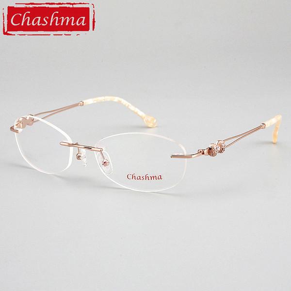 Compre Chashma Brand Designer Marcos Sin Montura Calidad Femenina ...