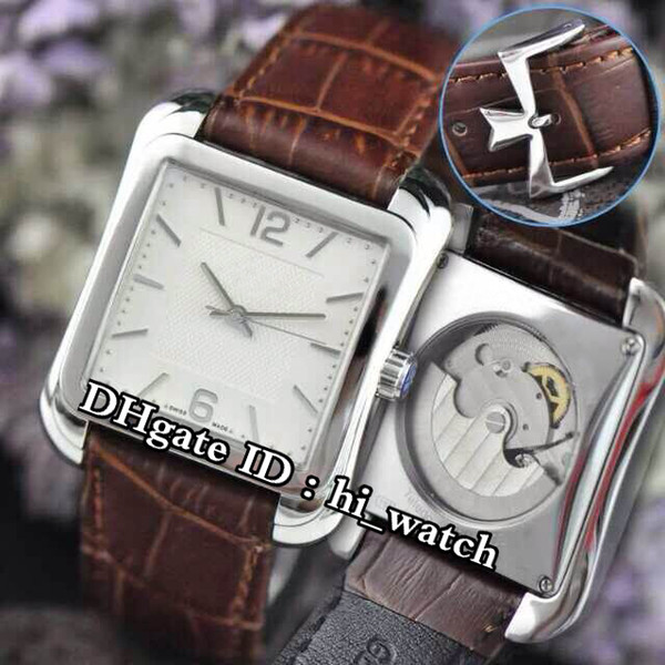 New Historiques Toledo 1951 86300/000R-9826 Steel Case White Dial Automatic Mens Watch Sports Watches Brown Leather Strap hi_watch VCA40b2
