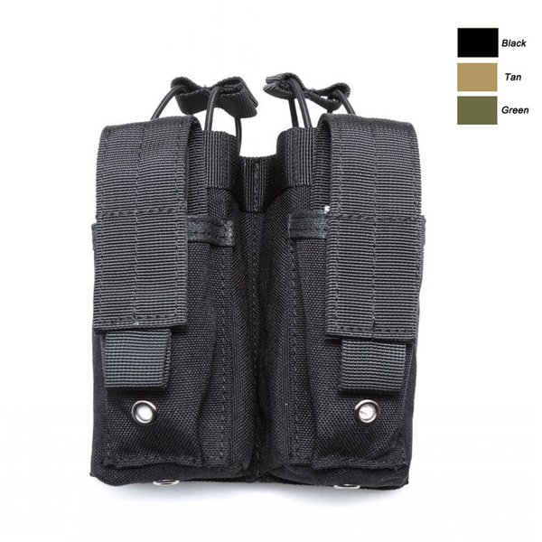 Mag Holder Cartridge Clip Pouch Pistol Handgun Tactical MOLLE Double Magazine Pouch NO11-538