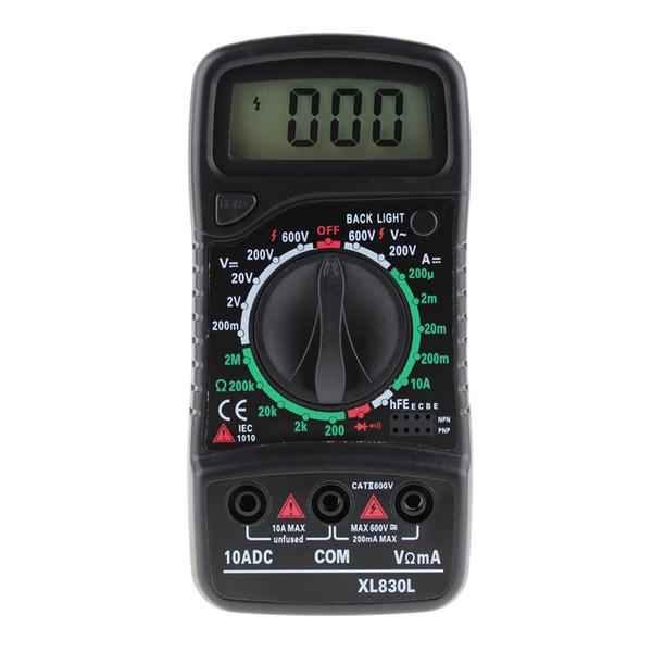 Multimeter Digital AC DC Tester Voltage Measurement Ohm Current Meter Blue Backlight Ammeter