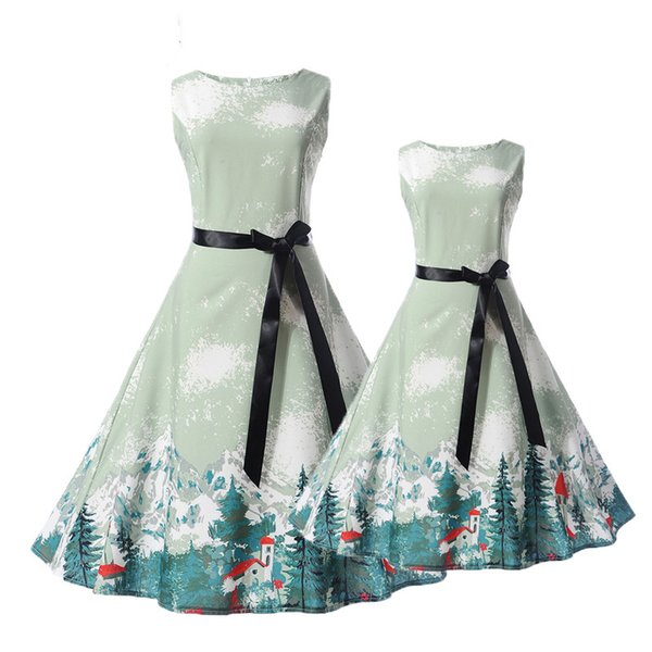 Mother Daughter Dresses Summer New Teens Girls Dress Children Clothes Mom Monsoon Kids Family Matching Outfits Clothing