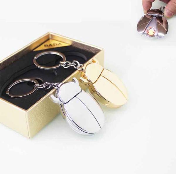 Новые творческие божья коровка Beatles Shaped USB зажигалка аккумуляторная электрический электронный прикуриватель с брелок для курения инструменты