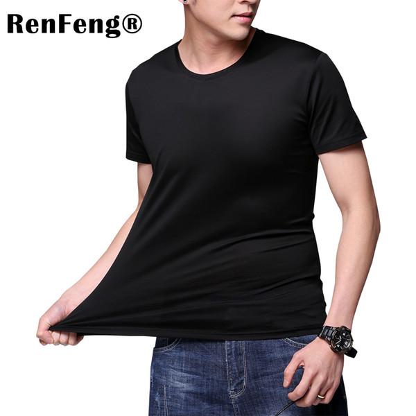 Man Underwear Blank White Black Purple Gay Mesh Ice Silk Sheer Undershirts Male Sexy Plain Fitness Night Shirts Men