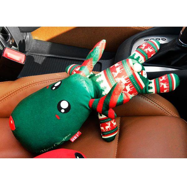 New Christmas Cute Elk Ornamente Auto-Innendekoration Weihnachtsbaum Print Davids Hirsch Cartoon Childeren Spielzeug Autozubehör