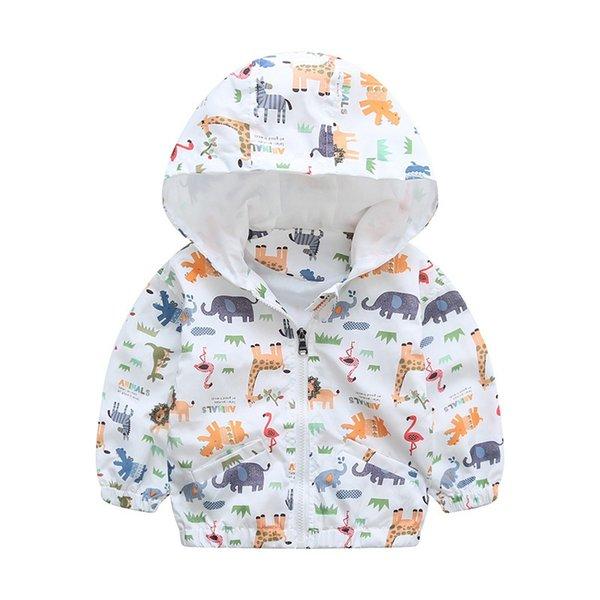Animal Do Bebê Meninas Jaqueta Casacos Com Capuz Ativos Meninos Crianças Crianças Roupas Animal Impressão Outerwear Jaqueta Blusão