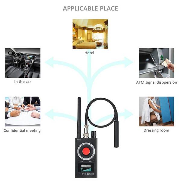 Rilevatori RF Rilevatore di insetti Mini telecamera GSM Audio Bug Sweeper Finder RF Radio segnale Scanner GPS Tracker Rileva dispositivi wireless