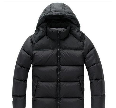 Estilo clásico Los nuevos abrigos de abrigo de North para hombre invierno engrosamiento frío chaqueta boca abajo a prueba de viento 900