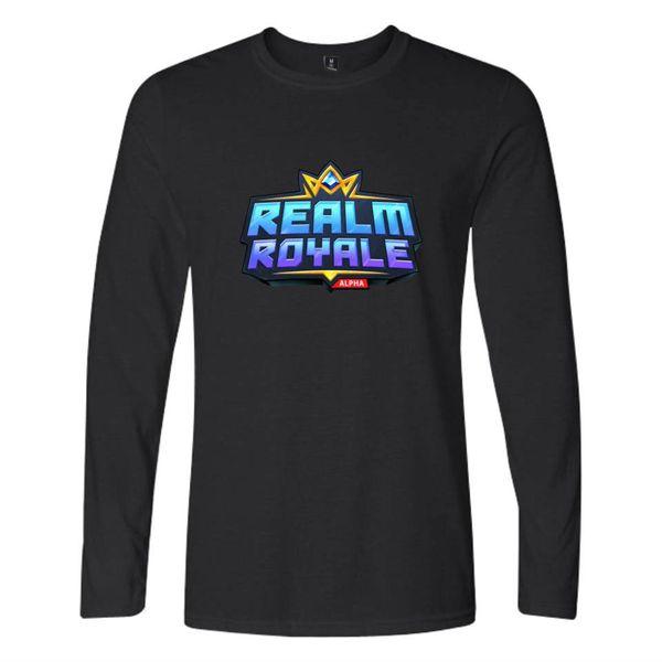Hot Game REALM ROYALE Men/Women Long Sleeves O-Neck T Shirts Couples Clothing Boys Girls K-pop Hip Hop Harajuku T-Shirt Tops