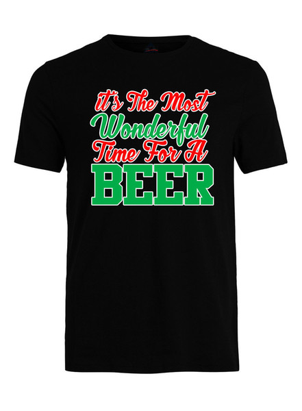 Most Wonderful Time For Beer Funny Christmas T-Shirt X-Mas Beer Gift T-Shirt
